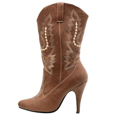 Cowgirl Brown Adult Costume Boots