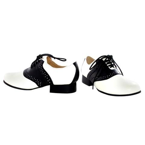 Saddle Costume Shoes Child Black and White