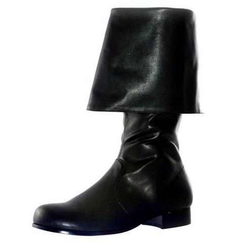 Hook Black Adult Costume Boots