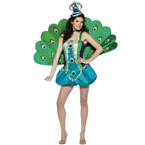 Teen Girl's Peacock Gal Costume - Size 12-16