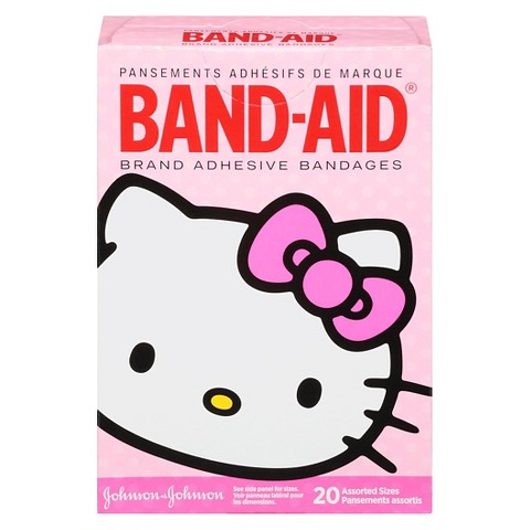 Band-Aid Hello Kitty Brand Adhesive Bandages - 20 Count