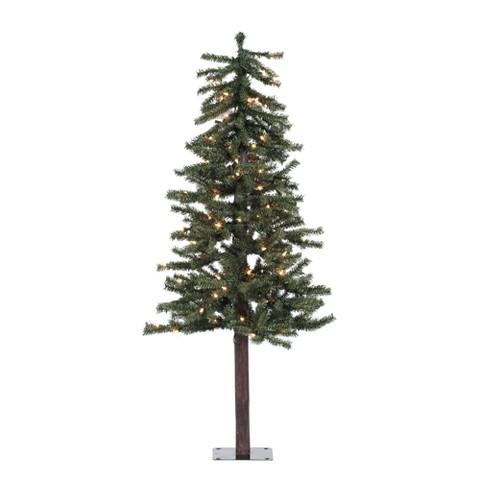 4' Pre-Lit Natural Alpine Tree - Clear Lights