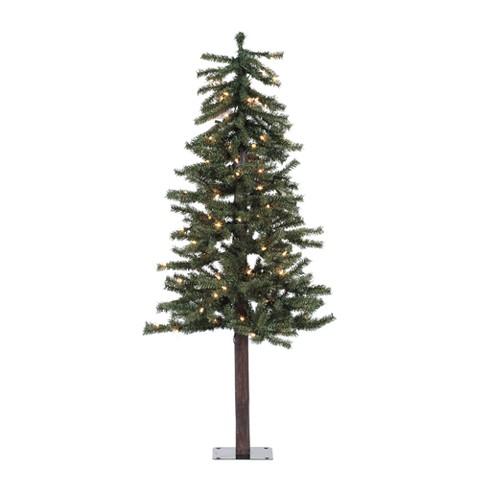 5' Pre-Lit Natural Alpine Tree - Clear Lights