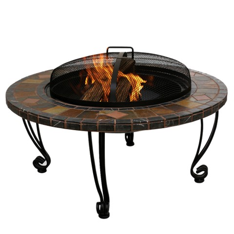 Slate Marble Tile Outdoor Fire Pit Tar