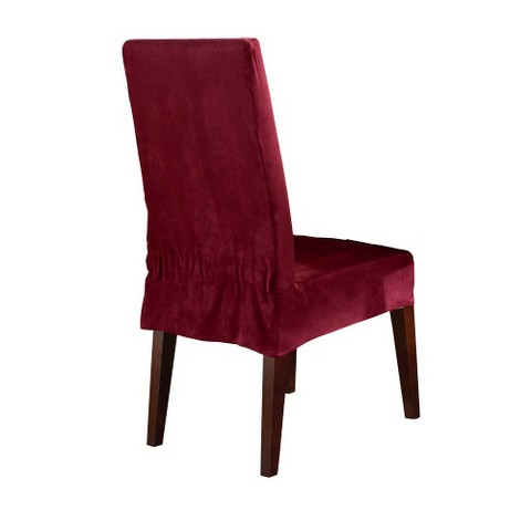 Sure Fit Soft Suede Short Dining Chair Slipcover