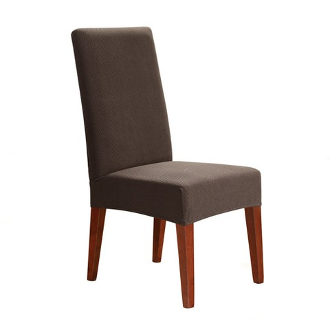 stretch honeycomb short dining chair slipcover product details page