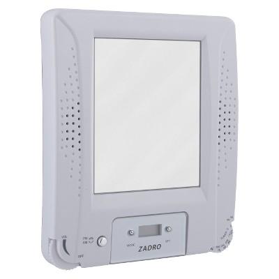 Zadro Fogless Water Resistant Radio Mirror Combo