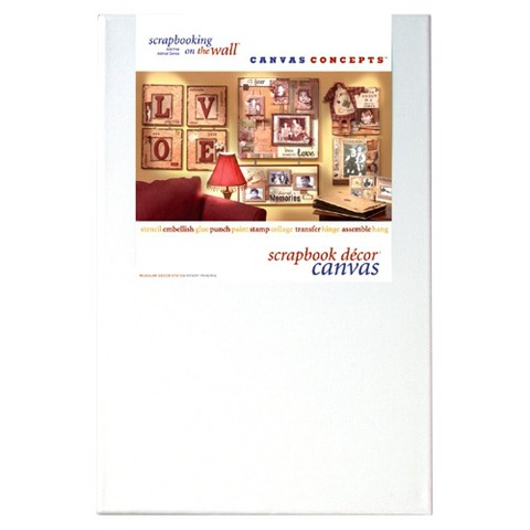 "Fancy Blank Canvas with Frame - White 8""X12"" (2 pack)"