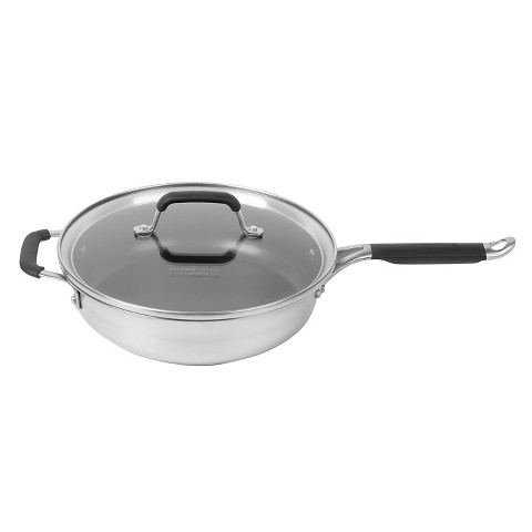 Calphalon Kitchen Essentials Stainless Steel 3-qt. Covered Sauté Pan
