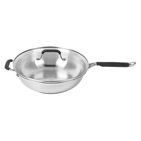 Calphalon Kitchen Essentials Stainless Steel Jumbo Frying Pan - 12""