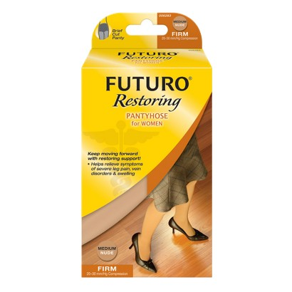 Futuro Firm Compression Pantyhose with Reinforced Toe - Beige
