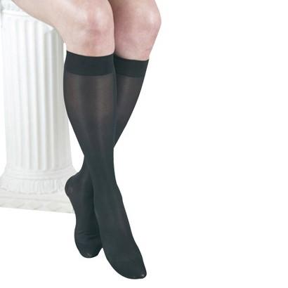 GABRIALLA® Sheer Knee Highs Compression (20-22 mmHg): H-160 Black - Medium