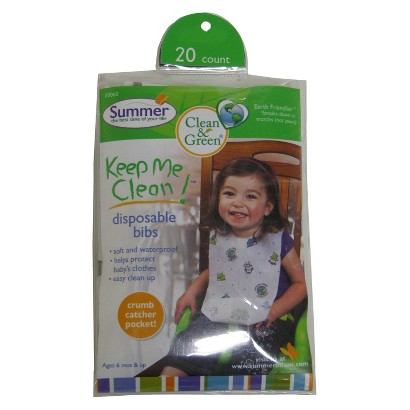Clean & Green 20-pc. Disposable Bib Package