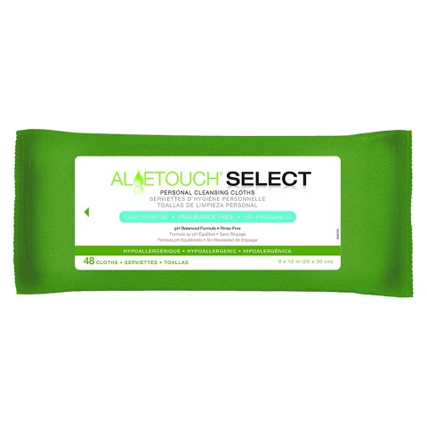 Medline Aloe Touch Select Personal Cleansing Cloths - 48 Count