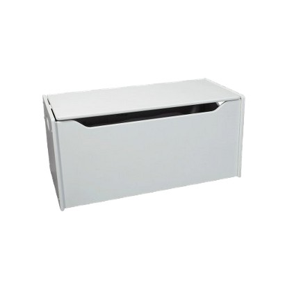 Gift Mark Toy Chest with Safety Hinges - White