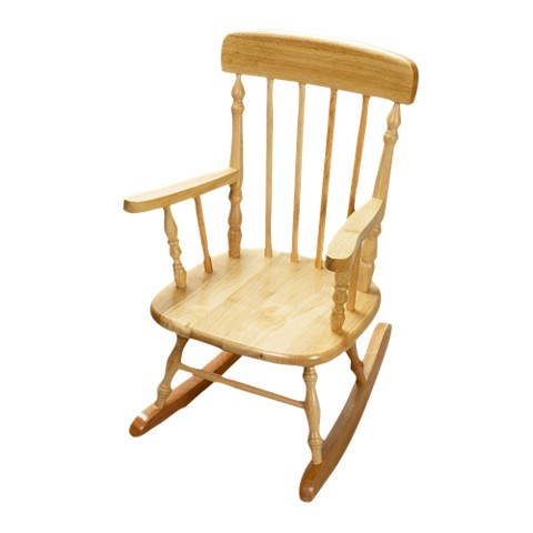 Kids' Spindle Rocking Chair - Natural