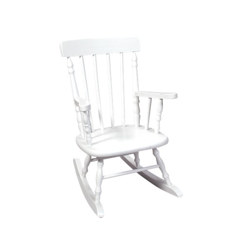 Kids' Spindle Rocking Chair - White
