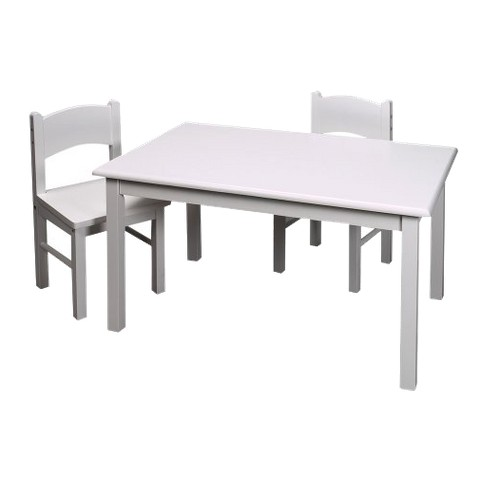 Rectangle Table & Two Chair White