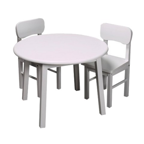 Round Table & Two Chair Set-Wht