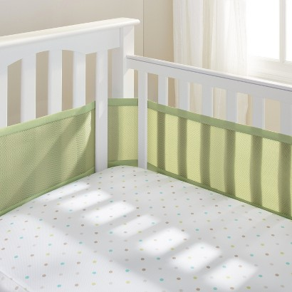 Breathable Mesh Crib Liner by BreathableBaby - Sage
