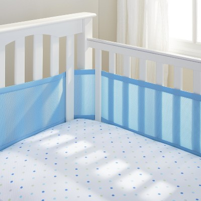 Breathable Baby® Solid Mesh Crib Liner - Blue