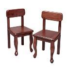 Pair Queen Anne Chairs-Cherry