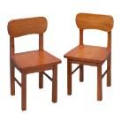 Pair Round Chairs-Honey