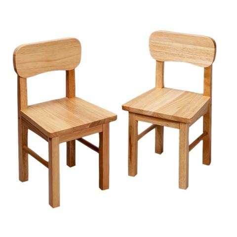 Pair Round Chairs-Natural