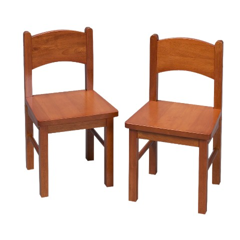 Pair Rectangular Chairs-Honey