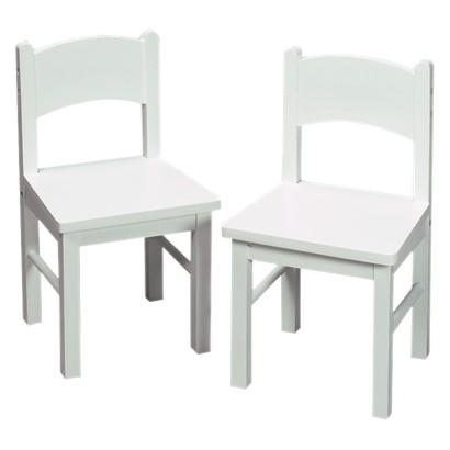 Kid's Rectangular Chairs Set- White
