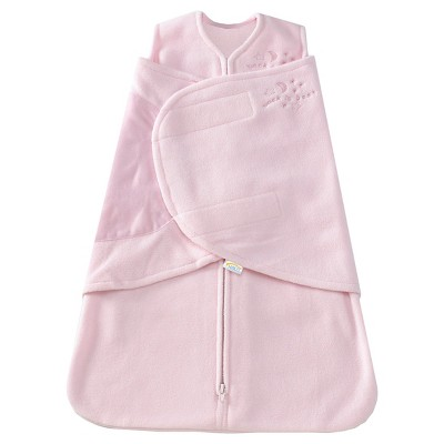 HALO SleepSack Micro-Fleece Swaddle - Soft Pink - Small