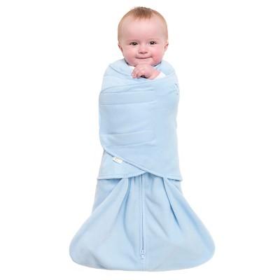 HALO SleepSack Micro-Fleece Swaddle - Baby Blue - Preemie