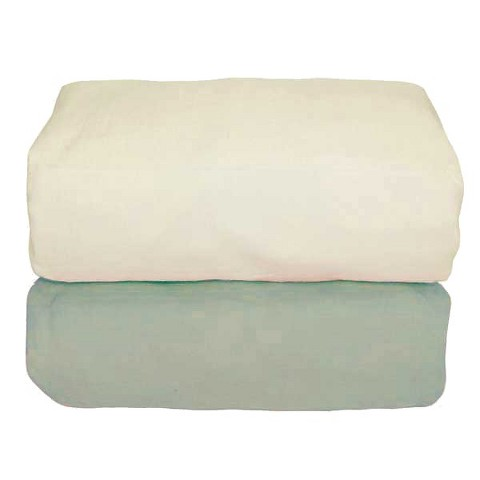 Tadpoles Sage Organic Set/2 Flannel Fitted Sheet