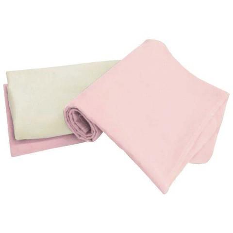 Tadpoles Pink Organic Set/3 Receiving Blankets