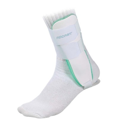 Mueller Aircast Sport Ankle Brace- Left White-One Size Fits Most