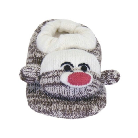 Kids MUK LUKS® Soft Ones Sock Monkey Slipper - Brown