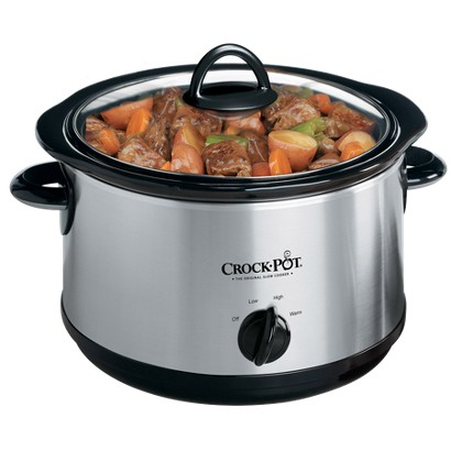 CROCK-POT® STAINLESS STEEL SLOW COOKER - 5 QT.