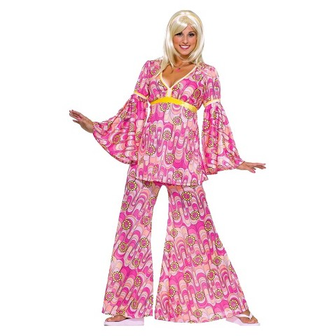 Women's Flower Power Hippie Costume - One Size Fits Most