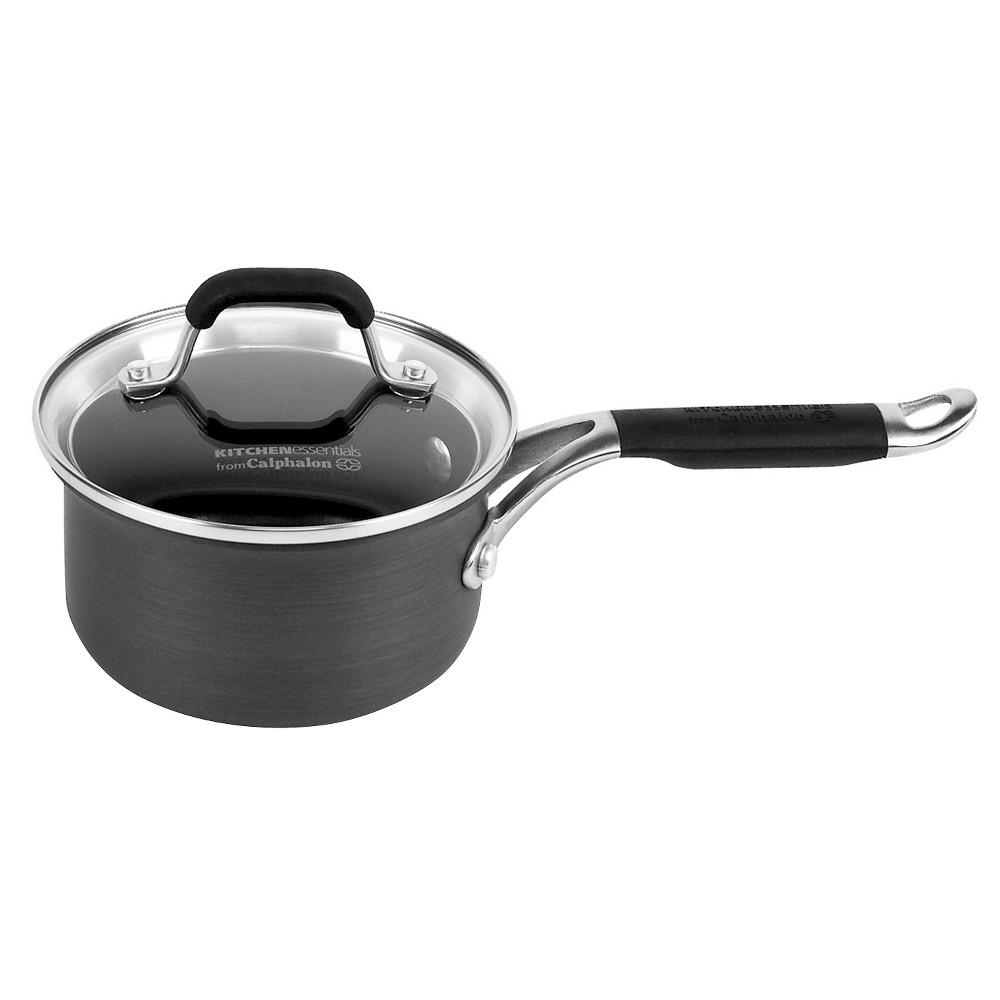 Kitchen Essentials From Calphalon Stainless Steel 1 Qt Sauce Pan With Cover Find It At Shopwiki
