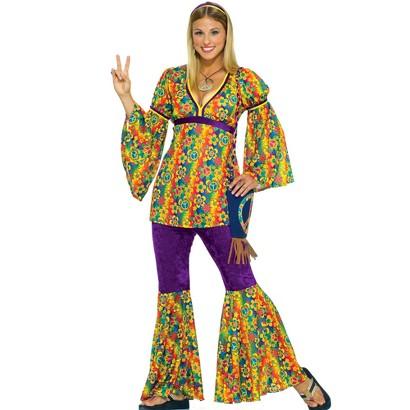 Women's Groovy Mamma Costume - Plus Size
