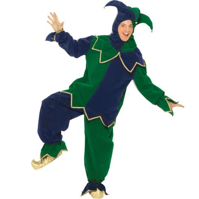 Men's Mardi Gras Jester Costume - One Size Fits Most