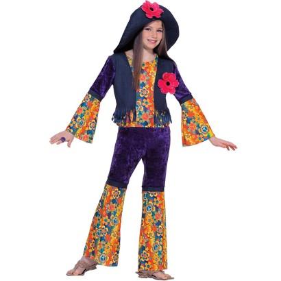 Teen Girl's Purple Haze Hippie Costume - One Size Fits Most
