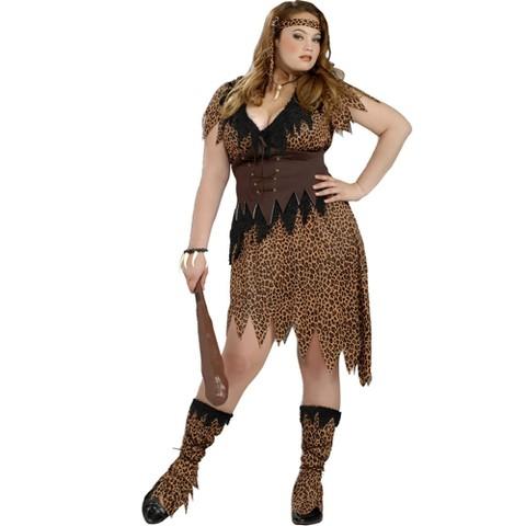 Women's Cave Beauty Costume - Plus Size
