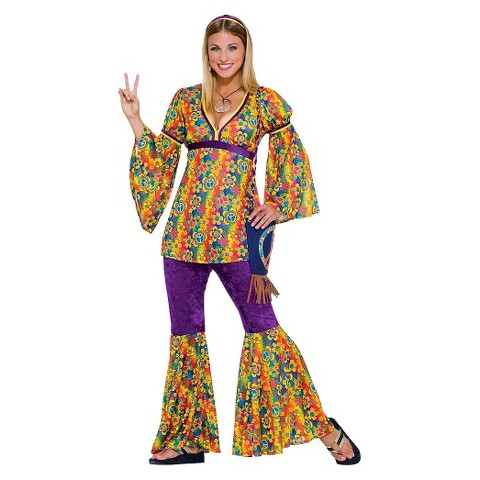 Women's Purple Haze Hippie Costume - One Size Fits Most