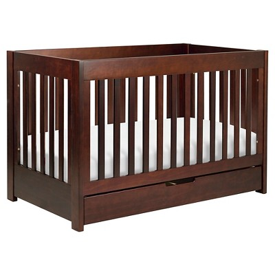 Babyletto Mercer 3-in-1 Convertible Crib with Toddler Rail - Espresso