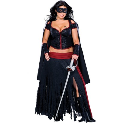 Women's Lady Zorro Costume - Plus Size