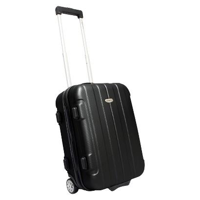 "Traveler's Choice Rome 21"" Hard-shell Carry-On Upright, Black"