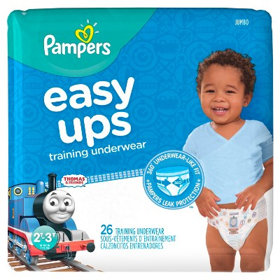 Pampers Easy Ups Boys Training Pants Jumbo Pack, Size 2T-3T (26 Count)