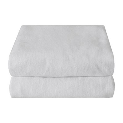 Cotton Flannel Pack & Play Crib Sheets 2-pk - White