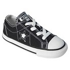 Toddler's Converse® One Star® Canvas Oxford Shoe - Black
